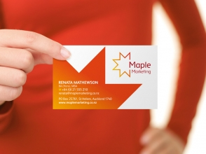 Maple Marketing business card