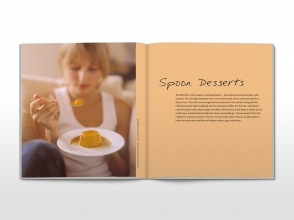 Sweet as … cookbook divider spread