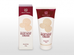 Nature's Beauty thermal mud heat cream packaging