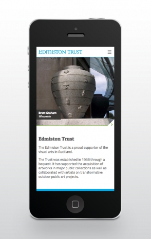 The Edmiston Trust responsive website design