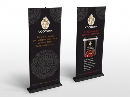 CocoSina pull up display banners