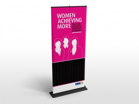 EMA Women Achieving More display banner