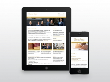 Glaister Ennor responsive website design
