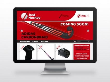 Just Hockey ecommerce website