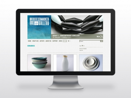 Waiheke Community Art Gallery ecommerce website