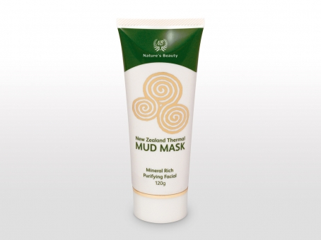 Nature's Beauty thermal mud mask packaging