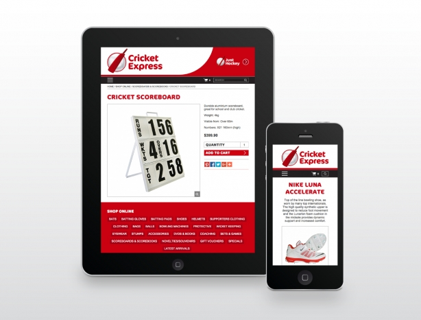 Cricket Express responsive website design