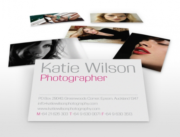 Katie Wilson Photography business cards
