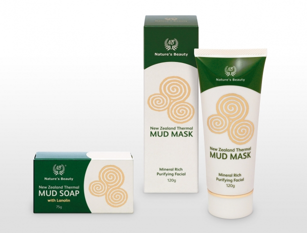 Nature's Beauty thermal mud packaging